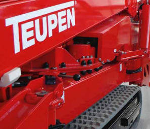 Teupen tracked spiderlift